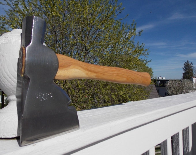 Sears marked vintage hatchet with new 13 inch handle of American Hickory weighs 1lb 14 oz