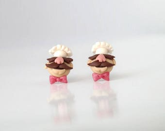 Muppet Show - Swedish Chef  - new handmade lightweight earrings