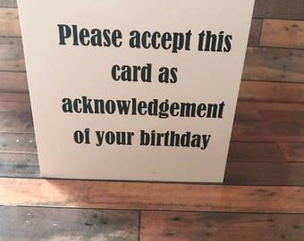 Funny Birthday Card/Birthday Card/Birthday/Friend/Acknowledgement