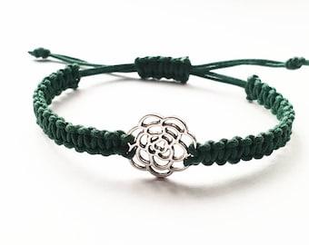 Rose braided bracelet