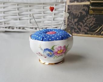 OOAK Queen Anne fine china pin cushion