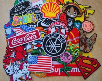 RANDOM Embroidered Iron On Patch hero cartoon flower animal biker mix diy sew wholesale