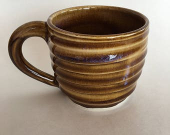 Tan Striped Mug