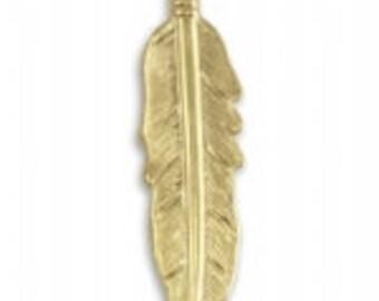 Vintaj Vogue 45x10.5mm Native Feather