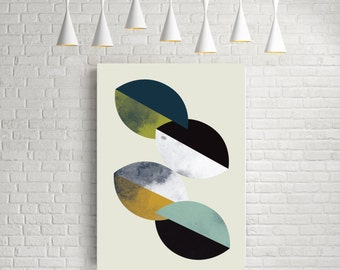 Geometric art, abstract print, minimalist print, modern wall art, scandinavian art, mid century modern, geometric art print, abstract art