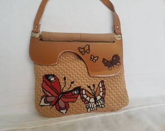 Patricia Smith Moon Bag Butterfly Needlework