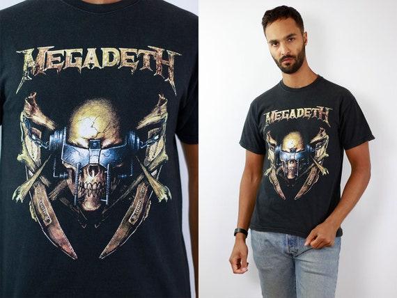 Vintage T-Shirt Black Heavy Metal T-Shirt Vintage 80s T-Shirt Black T-Shirt Retro Band T-Shirt Black T-Shirt Oversize 90s T-Shirt Megadeth