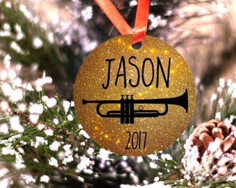 Personalized Trumpet Musician Band or Marching Band Ornament