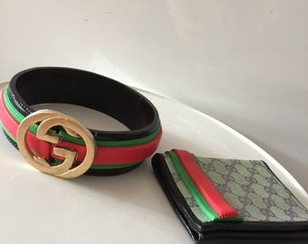 Men's Gucci belt and wallet  sugar edible cake toppers decoration