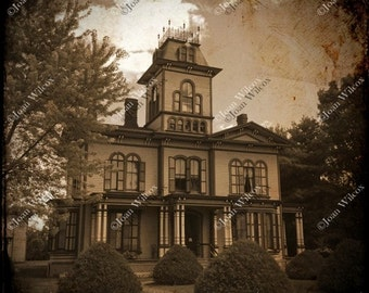 TTV Photo 19th Century Colonial Italianate Victorian House at Genesee Country Museum Scenic Sepia Original Fine Art Photography Print