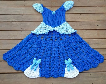 Crochet Princess Dress Blanket, Princess Blanket, Cinderella Inspired Blanket, Fairy Tale, Dress Blanket, Princess Theme Blanket, Storytime