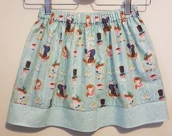 "Mint Green ""Neverland"" Cameos Skirt - Age 5-6"
