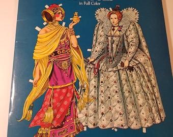 Tom Tierney Paper Dolls,Vintage Great Empresses & Queens 1985. Uncut