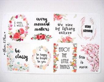 Inspirational Quotes | Erin Condren Vertical Layout FIlofax Happy Planner