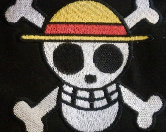 One Piece Anime Strawhats Jolly Roger Embroidered Patch