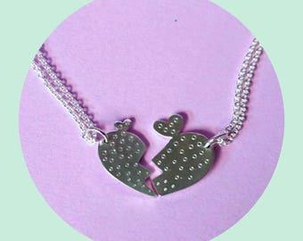 Besties Necklaces- Best Friends Necklace- Lovers Necklaces