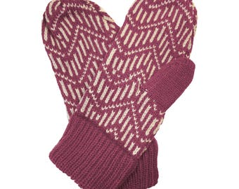 Montrose Mittens in Berry