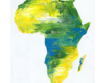 Motherland, African Print, African Painting, Fine Art Print, Art and Collectibles, UNFRAMED