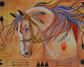 Painted Pony  Giclee print on Archival Matte Paper and Archival Ink