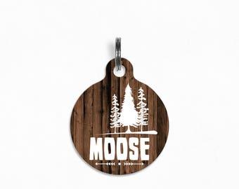 "Pet ID Tag | ""Moose"" - Woodland Oak (Forest)"