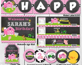 Farm Party Package Barn Party Package Girl Farm Party Package Old Mc Donald Birthday Farm Birthday