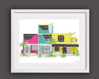 Peruvian Architecture Art Print / Peruvian House Wall Art / A4 print / House Warming Gift / Architecture Digital Print / Fathers Day Gift