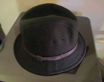 Very Nice Vintage Military Fedora Hat Size M / Quaker Marine Supply Co, USA