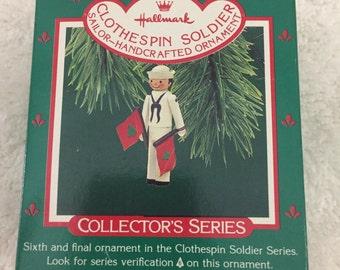 Hallmark 1987 clothespin soldier ornament final in series