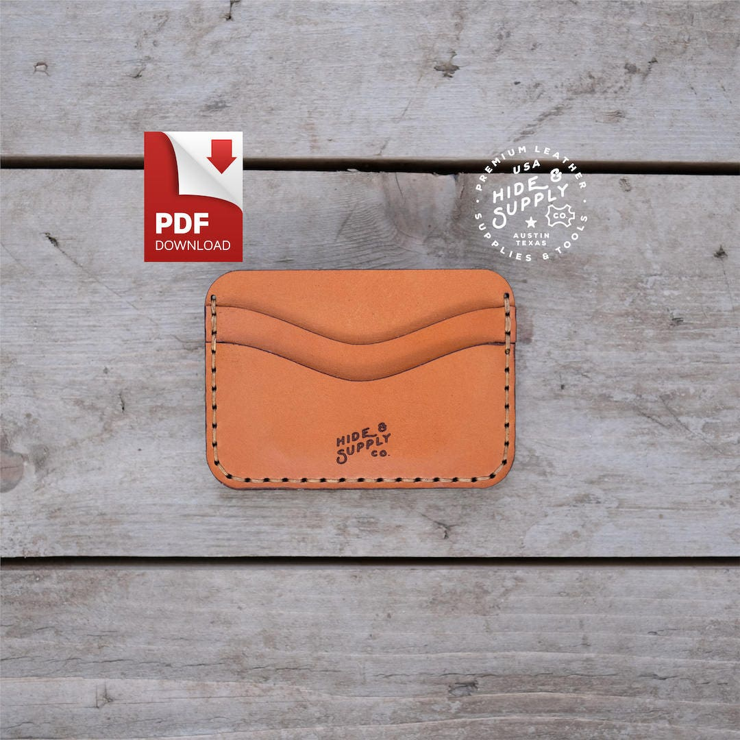 Five-Pocket Slim Card Wallet PDF Template Pattern Guide (8.5\