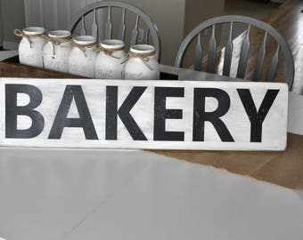 BAKERY Sign, Hand Painted Sign, Wood Sign, Farmhouse Decor,Distressed Sign, Country Decor, Shabby Chic Decor, Rustic Sign, Mothers Day Gift