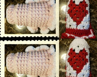 Handmade crochet x sm dog dresses