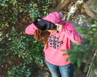 Yoga hoodie Love yoga Yoga girl Happy yogi Gift for yogi Organic cotton