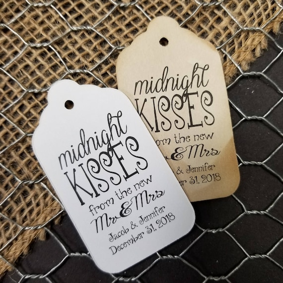"""Midnight Kisses from new the Mr and Mrs Favor (my SMALL tag) 1 1/8"""" x 2"""""""