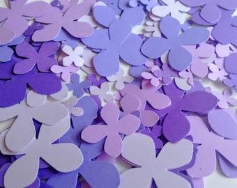 Paper purple Hydrangea, 3 size die cut Hydrangea, die cuts, wedding decorations, scrapbooking, weddings, confetti (300 cuts)