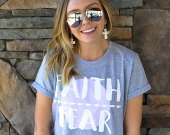 Faith Over Fear T-Shirt / Inspirational T-Shirt / Christian T-Shirt / Faith T-Shirt