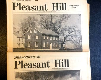 Two Newspaper Issues Shakertown at Pleasant Hill 1971 and 1980 Harrodsburg