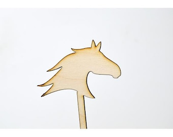 Laser Cut Toppers - Horse Head - TR-029 - PK of 6 for Cakes, Cupcakes, Donuts and More