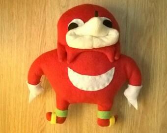 Ugandan Knuckles plush toy handmade vrchat sonic meme de wey da wae uganda