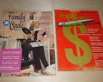 Family Circle Magazines (set of 2)