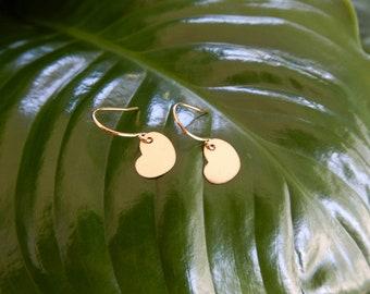 Cute little Heart 14kt gold filled hook earrings