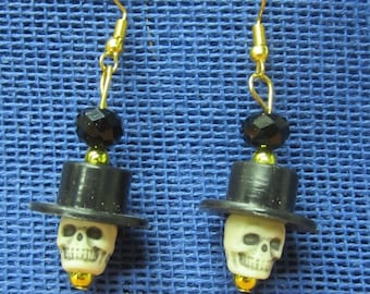 Day od the dead skull earrings