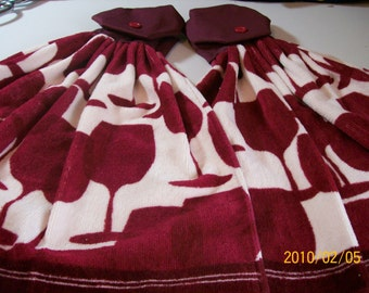Kitchen Towel Set - Wine Glasses