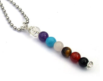 Chakra Pendant Necklace for Women Gemstone Jewelry