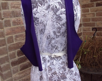 purple vest-Aladdin vest, genie vest--four adult unfinished vests sold separately