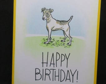 Handmade Birthday Card featuring a dog