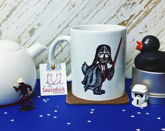 Saucyduck/DuckVader/Mug/Duck/Lightsaber/Fun/Birthday