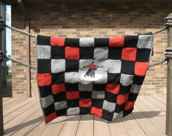 Wool and cashmere quilt