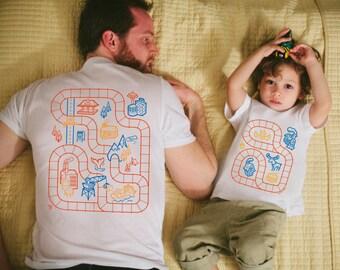 Father Son Matching Shirts, Train Track Shirts, Daddy Son Matching Shirts, Dad and Baby Shirts, Train Shirt, Dad Gifts, Toddler Boy Clothes