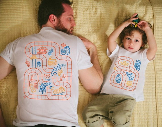 father son matching shirts train track shirts daddy son. Black Bedroom Furniture Sets. Home Design Ideas