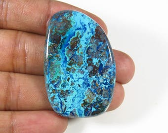 Blue Azurite cabochon. Azurite gemstone. Unique~Natural Azurite cabochon. For jewelry 52 Cts Fancy shape Azurite loose gemstone. MX-702